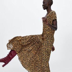Zara Animal Print Dress